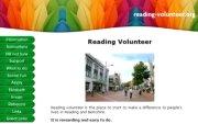 Reading Volunteer website